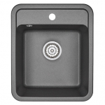 [product_id], Кухонная мойка Granula Standard Рэндом ST-4202 Черный (420х500 мм), , 3 390 руб., ST-4202 Брют, Granula, Кухонные мойки