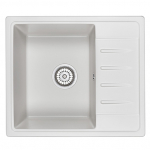[product_id], Кухонная мойка Granula Standard Рэндом ST-5803 Белый (580х500 мм), , 3 850 руб., ST-5803 Белый, Granula, Кухонные мойки