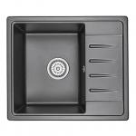 [product_id], Кухонная мойка Granula Standard Рэндом ST-5803 Черный (580х500 мм), , 3 850 руб., ST-5803 Черный, Granula, Кухонные мойки