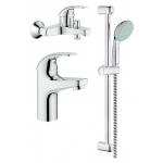 [product_id], Комплект смесителей для ванной комнаты Grohe BauCurve 122251, , 10 780 руб., Grohe BauCurve 122251, Grohe, Комплекты смесителей для ванной комнаты
