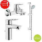[product_id], Комплект смесителей для ванной комнаты Grohe BauLoop 121827, , 11 100 руб., Grohe BauLoop 121827, Grohe, Комплекты смесителей для ванной комнаты