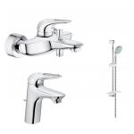 [product_id], Комплект смесителей для ванной комнаты Grohe Eurostyle New 124416, , 16 390 руб., Grohe Eurostyle New 124416, Grohe, Комплекты смесителей для ванной комнаты
