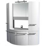 [product_id], Комплект мебели Акванет Римини 150 ( белый, два пенала ), 8528, 108 040 руб., Акванет Римини, Aquanet, Зеркала