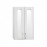 [product_id], Подвесной шкаф Style Line Эко Стандарт 48 белый с зеркальными вставками, ЛС-00000352, 3 800 руб., Эко Стандарт 48 с зеркальными вставками, Style Line, Шкафы навесные