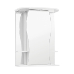 [product_id], Зеркальный шкаф Style Line Эко Волна Лорена 55/С белый, ЛС-00000120, 4 046 руб., Эко Волна Лорена 55/С, Style Line, Зеркала