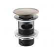Донный клапан Wasser Kraft Push-up A046 (светлая бронза)