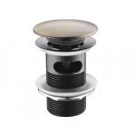 [product_id], Донный клапан Wasser Kraft Push-up A046 (светлая бронза), , 1 730 руб., Wasser Kraft Push-up A046, Wasser Kraft, Системы слива для раковины