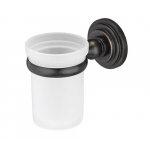 [product_id], Подстаканник стеклянный Wasser Kraft Isar K-7328 (темная бронза), , 1 420 руб., Wasser Kraft Isar K-7328, Wasser Kraft, Подстаканник