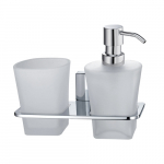 [product_id], Держатель дозатора и стакана Wasser Kraft Leine К-5089, , 2 490 руб., К-5089, Wasser Kraft, Стакан